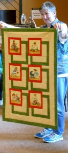 Brigitte finished her quilt from the BQ Class a couple of years ago (it was a sample!)